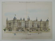 River Front, Commonwealth Hotel, Boston, MA, 1896, Original Plan. John Pickering Putnam.