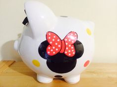 Personalized  Large Piggy  Bank  Disney by KUTEKUSTOMKREATIONS