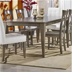Custom Dining Customizable Rectangular Table with Legs by Canadel at Darvin Furniture