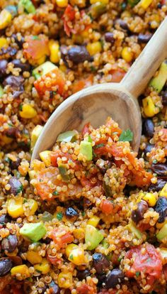 """One Pan Mexican Quinoa. This was """"fine"""" according to Derek--he topped his with cheese and ate it with corn chips."""