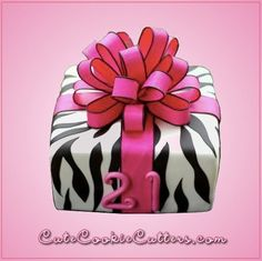 Zebra Stripe Cookie Cutter Set
