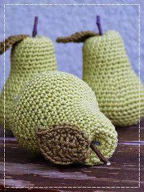 Kouzlo mého domova: Háčkované hruštičky Fruit, Crochet, Ganchillo, Crocheting, Knits, Chrochet, Quilts