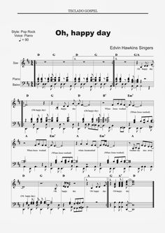 Partituras para piano: Oh happy day