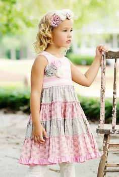 Mustard Pie Pink McKenna Dress PreorderWhite Lace Legging & Headband Available Too!12 Months to 12 Years