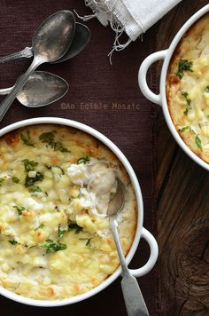 Cheesy Mashed Cauliflower Gratin by An Edible Mosaic - we made this last night to try it out and it is delicious!