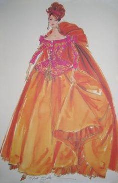 Symphony in Chiffon Robert Best Barbie Sketch fashion illustrations(¯`'•.ೋ