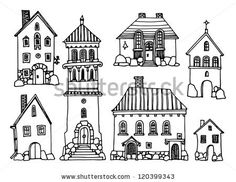 Find Cartoon Hand Drawing Houses stock images in HD and millions of other royalty-free stock photos, illustrations and vectors in the Shutterstock collection. Drawing Cartoon Characters, Character Drawing, Cartoon Drawings, House Sketch, House Drawing, Doodle Drawings, Doodle Art, House Doodle, Art Graphique