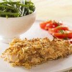 Peito de frango com crosta de cebola desidratada