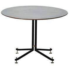 Italian Pedestal Table, Mid-20th Century | From a unique collection of antique and modern dining room tables at https://www.1stdibs.com/furniture/tables/dining-room-tables/