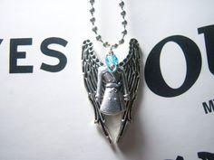 Castiel's Grace-Fallen Angel Necklace-Supernatural Necklace-Team Castiel-Team Free Will-Castiel Grace-Paranormal-TV Jewelry-Winchester