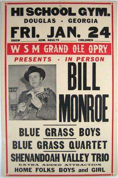 Bill Monroe flyer  #oldskool