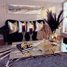 Decor Home Living Room, Glam Living Room, Elegant Living Room, New Living Room, Living Room Designs, Bedroom Decor, Living Room Inspiration, Home Decor Inspiration, Ideas Hogar