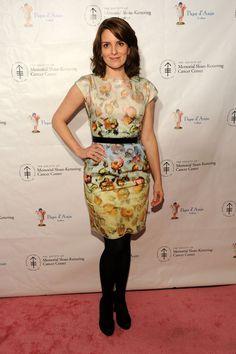 Tina Fey wearing a Derek Lam dress