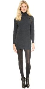 OK, I absolutely love this sweater and it would look fabulous over leggings, skinny jeans or a skirt....but a dress it is not!!   Tory Burch Mckenna Sweater Dress Designer Dresses