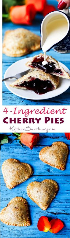 Simple sugar-sprinkled cherry hand pies - a simple but thoughtful gift for your Valentine.