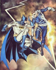 Batman vs Nick Fury by Mike Rooth Batman The Dark Knight, Batman Vs, Batwoman, Nightwing, Infinite Earths, Batman Wallpaper, Nick Fury, Dc Comics Characters, Bronze Age