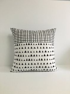 Black and White Geometric Pillow Cover, Black White Geometric Cushion Cover, Black White Pillow Cover,Home & LIving,Decorative White Pillow Covers, White Pillows, Throw Pillows, Geometric Cushions, Geometric Pillow, Pillow Fabric, Home And Living, Decorative Pillows, Black And White