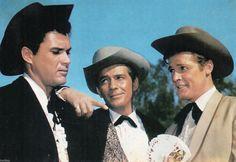 "EARLY POSTCARD -1960s - ACTORS - ""ROGER MOORE,JACK KELLY,ROBERT COLBERT"" | eBay"