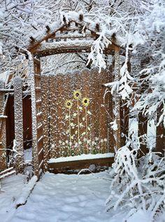 Winter Garden Gate   Flickr - Photo Sharing!