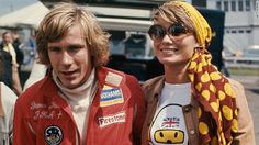 F1's 1976 world champion James Hunt and his first wife, Suzy Miller, regularly added a touch of glamor in the 1970s. The pair were media favorites.
