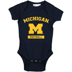 Michigan Wolverines Infant Football Bodysuit - Navy - $14.99