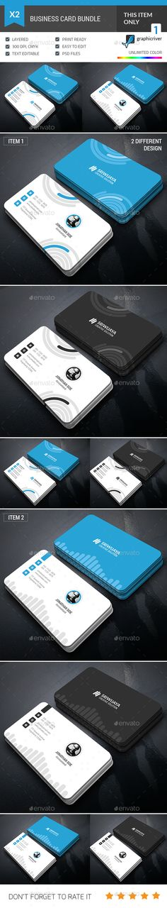 Engineer business card pinterest card templates business cards business card bundle by gowes this is a 2 in 1 business card bundle this accmission Gallery