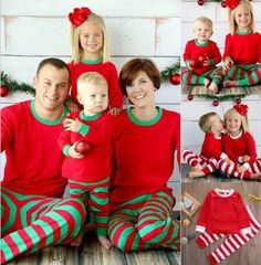 Family Matching Christmas Pajamas Family Clothing Mother Daughter Father  Son Clothes Family Clothing Sets Family Style 01f3ac20d