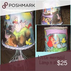 Little mermaid lamp n shade I have of themes n do custom ones Accessories