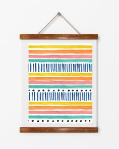 Boho chic, digital download, instant art, tribal patterns, beach house style, multi stripes poster, wall decor