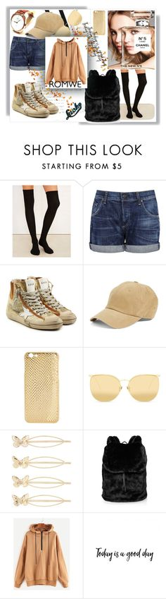 """Bez naslova #217"" by rikyy ❤ liked on Polyvore featuring Chanel, Balenciaga, Wet Seal, Citizens of Humanity, Golden Goose, American Needle, Mela Loves London, Linda Farrow, Accessorize and Puma"