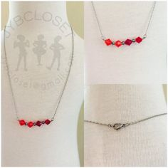 Stainless steel necklace 18 with Swarovski beads by jybcloset