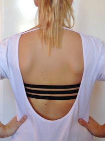This is a good idea! DIY 3 Strap Bra for Backless Tops and Dresses!!