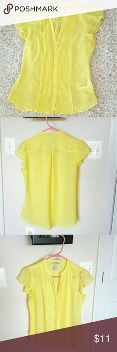H&M classy sexy bright neon yellow blouse, sz 6 H&M bright neon yellow blouse, sz 6, worn twice, airy, sexy classy, cheaper on merc H&M Tops Blouses