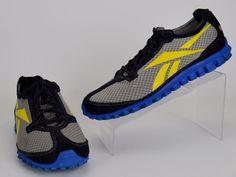 Reebox Realflex Men's Size 11 M Black Gray Yellow Running Shoes #Reebok…