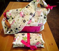Girls Pink Owl Diaper Bag on Etsy, $30.00