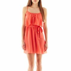 My Michelle Sleeveless Belted Tie-Front Dress (like the green too) Junior Dresses, Short Dresses, Dresses For Tweens, Tie Front Dress, Cute Summer Dresses, Carolina Herrera, Cute Outfits, Clothes For Women, Wedding Dresses