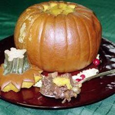 Baked Stuffed Pumpkin