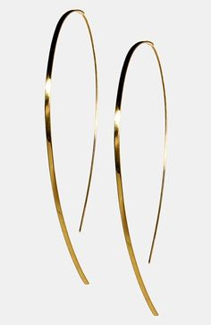 """Lana Jewelry 'Large Flat - Hooked On Hoop' Earrings available at #Nordstrom  $545  the """"upside down"""" hoops are cute too"""