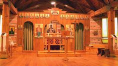 our lady of the woods, chapel interior, combermere, ontario