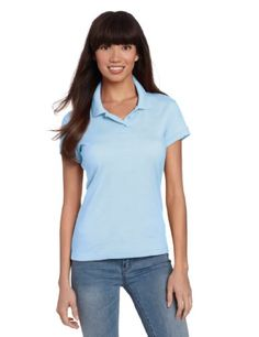 CLASSROOM Juniors Short Sleeve Fitted Polo, Dark Navy, XX-Large: Cap sleeve juniors polo in interlock knit with 3 button placket has softly shaped body, colorfast cotton, poly blend is easy care wash-and-wear Women's Cycling Jersey, Outdoor Woman, Outdoor Outfit, Short Girls, Workout Shirts, Short Sleeve Tee, Cap Sleeves, Black Tops, Feminine