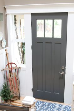 Charcoal Front Door - The Inspired Room