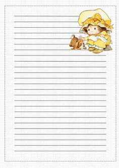 Paper for writing Sarah Kay, Lined Writing Paper, Printable Lined Paper, Pretty Writing, Journal Pages, Cute Designs, Retro, Stationery, Bill Management