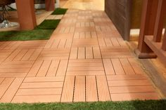 compare wood plastic composite decking,easy to clean wood plastic composite decking supplier,no pollution decking wood for sale, Outdoor Deck Decorating, Diy Outdoor Furniture, Wpc Decking, Composite Decking, Outdoor Tiles, Outdoor Decking, Wood Deck Designs, Outside Flooring, Plastic Decking