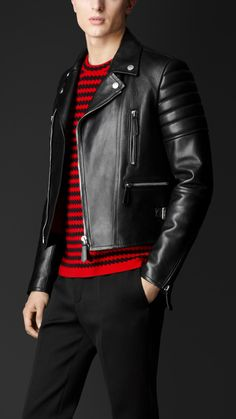 Leather Biker Jacket | Burberry
