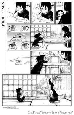 Itachi and Sasuke: Ha take that Itachi, you poked my dinosaur! Itachi: that dinosaur is still mine. Itachi Uchiha, Naruto And Sasuke, Naruto Gaiden, Naruto Anime, Naruto Comic, Naruto Cute, Sakura And Sasuke, Naruto Shippuden Anime, Boruto