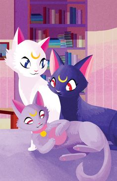 Sailor Moon / Luna, Artemis and Diana