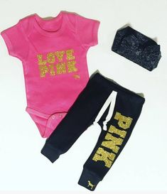eb787bca Vs inspired pink outfit / baby girl clothes / baby girl outfit / toddler  girl outfit / newborn girl clothes / pink onesie / baby bows