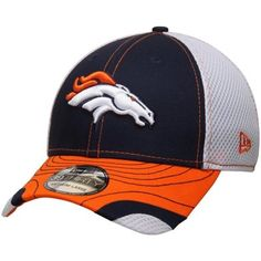 cc5b72774 Men s Denver Broncos New Era Navy White Tumbled Neo 39THIRTY Flex Hat. Broncos  HatDenver Broncos GearFootball TodayDifferent SportsNfl ...