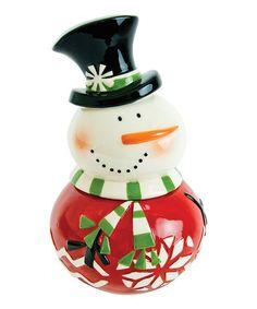 Sweater Snowman Cookie Jar