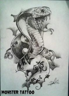 Snake, diseño tipo japonés. DISPONIBLE PARA TATUAR